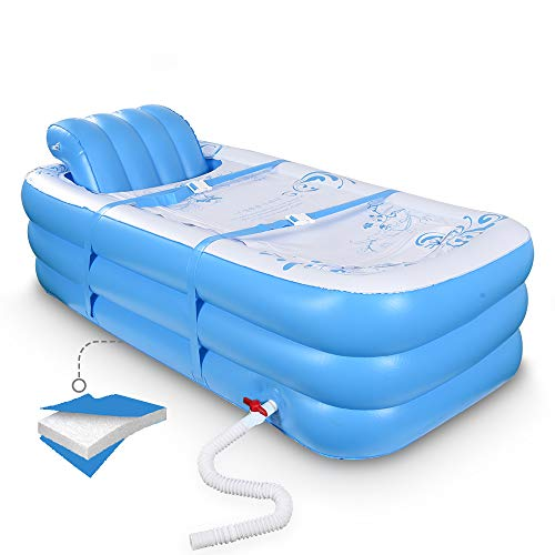 Very Suitable For Hot Tub Ice Baths Which Can Effectively Maintain The Temperature N//P AEE Inflatable Portable Thick Plastic Movable Adult Foldable Bathtub Can Be Used In All Seasons