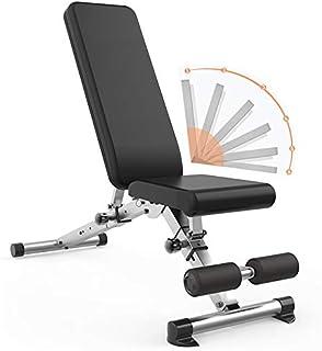 WOERD Banc De Musculation Pliable Multifonction Sit-up Fitness avec 6 Positions Dorsales, Exercice De Musculation Pliant B...