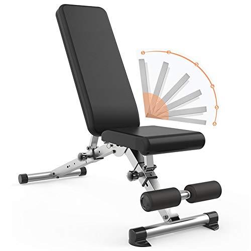 WOERD Banc De Musculation Pliable Multifonction Sit-up Fitness avec 6 Positions Dorsales, Exercice De Musculation Pliant Banc D'entraînement, Jusqu'à 280 Kg