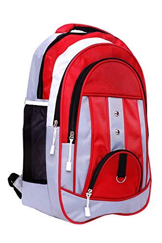 Faturi Casual Waterproof Laptop Bag/Backpack for Men Women Boys Girls/Office School College Teens & Students – Red Color