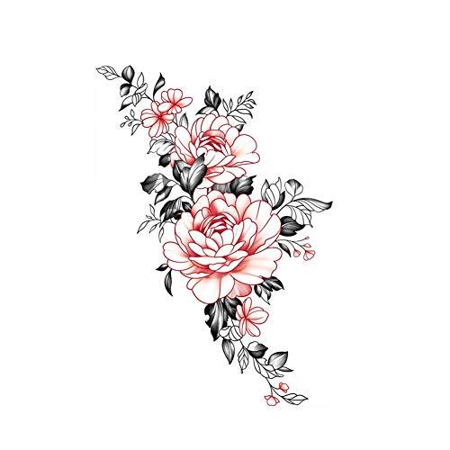 2 feuilles fleur autocollants de tatouage temporaire femmes Art corporel décor pour Cosplay Fête costumée couvrant les cicatrices