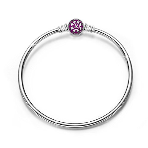 NINAQUEEN Bracelets for Womens fit Pandora Bracelet 19 cm Purple Women's Jewellery Best Gifts with Jewellery Box 925 Sterling Silver Antibacterial Properties