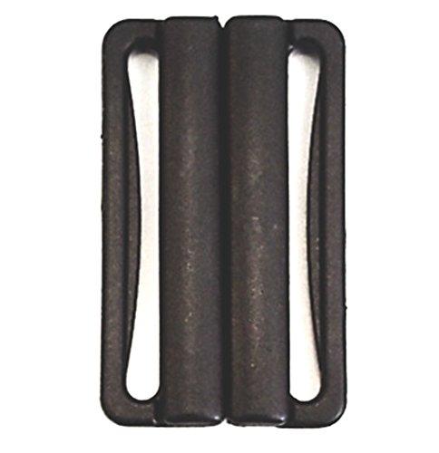 Bikiniverschluss schwarz Steg 40mm Kunststoff