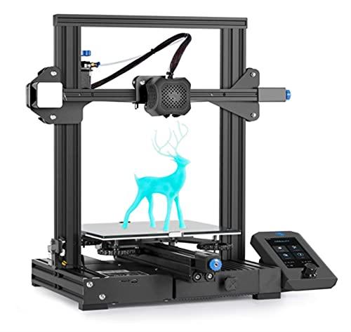 Wxyyge CREEALIDAD Ender 3 V2 Versión Mejorada Impresora 3D Diseño de Estructura integrada, Placa Placa silacada de la Plataforma de Cristal de carburo de Silicona, 220 * 220 * 250 mm
