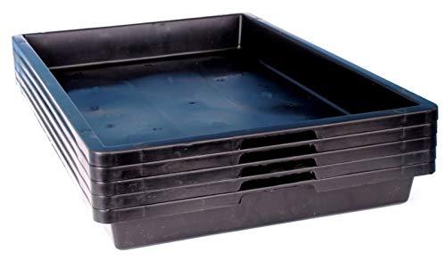 5 Stabile Anzuchtschalen, Pikierschale 60 x 40, Samen Stecklinge Bonsai 59000 Ausführung 5er Pack ohne Drainage