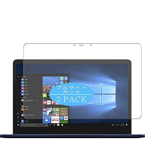 VacFun 2 Piezas Filtro Luz Azul Protector de Pantalla Compatible con ASUS ZenBook Pro 15 UX550GD 15.6', Screen Protector Película Protectora (Not Cristal Templado) Anti Blue Light Filter New Version