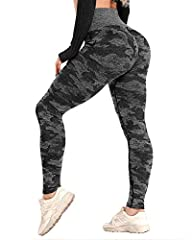 ▍All-OVER JACQUARD CAMO PATTERN - CFR camo seamless leggings. made of high performance fabric. Super stretchy, squat proof, non see-through, moderately thick, breathable. Perfect for running, gym workout, yoga, fitness or daily outfit. ▍HIGH WAISTED ...