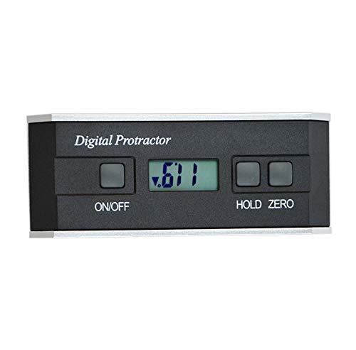 CGOLDENWALL PRO360 - Inclinómetro de alta precisión con base de aleación de aluminio, with magnets, 0-800mm, 1