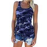 T-shirt da donna mimetica Blu 1 S