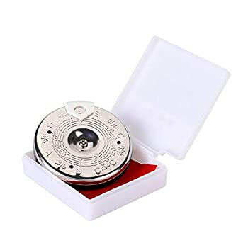 ChromaticTuner ChromaticTunerPedal ChromaticGuitarTuner Sensitive Chromatic 13 Pitch Pipe Tuner C-C Tuning Tool with Case Instrument Accessory
