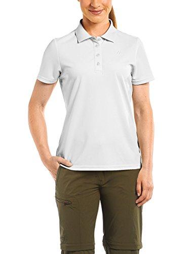 MAIER SPORTS Damen Polo Ulrike T-shirt,Weiß (white), Gr. 50