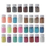 Mica - Polvo metálico para resina epoxi, 30 colores