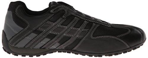 Geox Geox UOMO SNAKE L, Herren Sneakers, Schwarz (BLACK/LEADC9204), 39 EU (6 Herren UK)