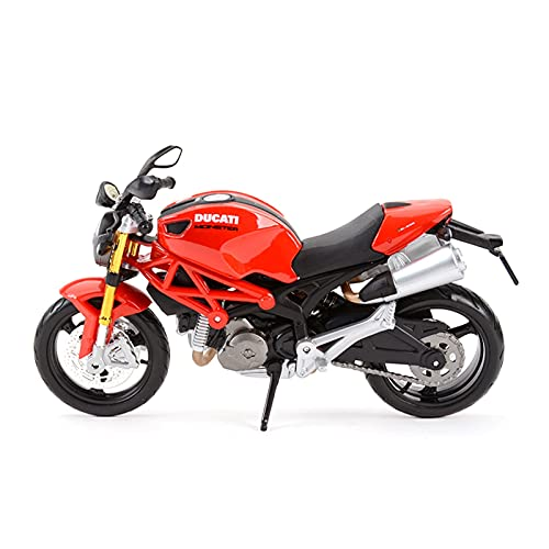 Boutique para DUC┐ATI Monster 696 1:12 Motoring Motorcycle Modelo Colección De Regalo Coche De Juguete Conmemorativo (Color : Rojo)
