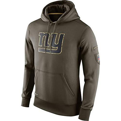 FWHACMT NFL New York Giants Hoodie Grün Kapuzenpullover für Herren Langarm Pullover Sweatshirts für American Football Fans Bekleidung Sweater - 2019 Salute to Service Military Edition,XL