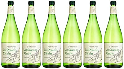 Rebknozre Landwein Rhein Weißwein halbtrocken (6 x 1 l)