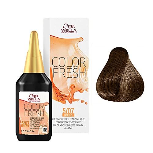 Wella Professionals Color Fresh 5/07 hellbraun natur-braun, 75 ml