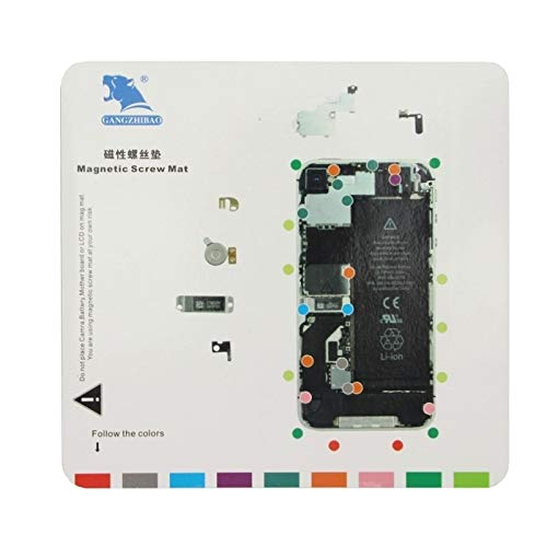 Dmtrab Tornillos magnéticos Esterilla de Reparación de Herramienta for el iPhone 4S, Tamaño: 20 cm x 19 cm (Blanco) Piezas de Repuesto (Color : White)
