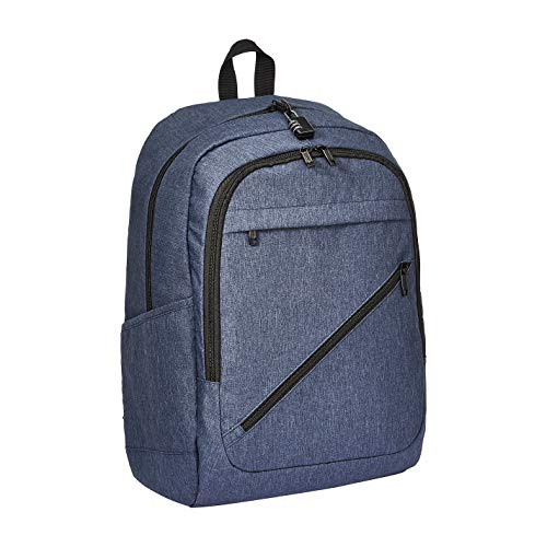 AmazonBasics Anti-Theft Water Resistant Backpack for Laptops up to 17-Inches - Navy