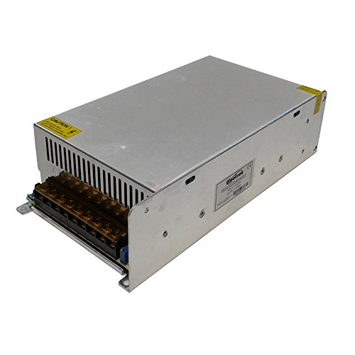 Alimentatore trasformatore 12V DC 50A 50000mA stabilizzato trimmer switching 600W 220V 110V grigliato contenitore metallico strisce striscia led strip telecamera videocamera monitor switch 12Vdc 12Vcc