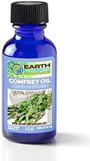 Comfrey Medicinal Herbal Oil,100% Organic, Raw, Non-GMO – Wound Healing, Skin Regeneration, Moisturizer, Anti-Inflammatory. Excellent carrier oil. 4fl.oz. Made in the USA