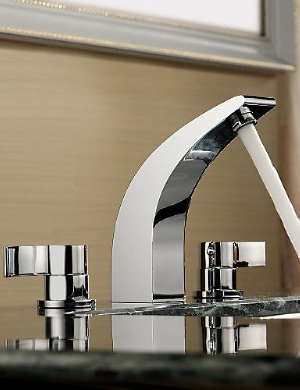 SZ chrom Finish 2Griffe breitgefchert Solid Messing Waschbecken Armaturen