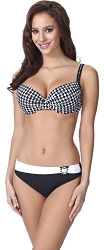 Feba Figurformender Damen Push Up Bikini F01 (Muster-303, Cup 75F / Unterteil 38)