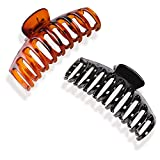 Hanyousheng 2 Pezzi Capelli Clip Artiglio,di Plastica da Donna Pinze per Capelli Artigli,Resistente in Stile Coreano Accessori per Capelli Fermaglio Capelli Donna