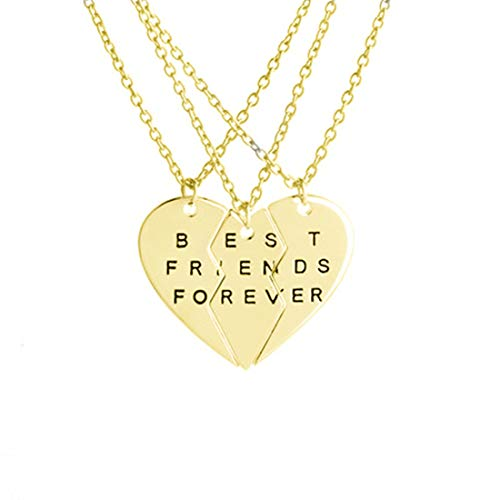 Engraved Name & Letters Puzzle Necklace Personalized Sterling Silver Heart Necklace Birthday Valentine's Day Anniversary Jewelry Ideas(Gold-18)