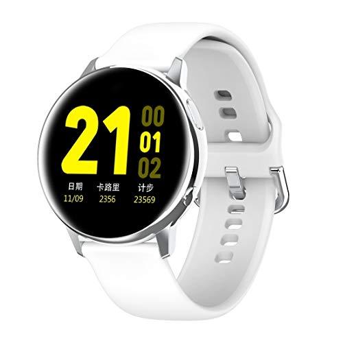 Smart Watch IP68 Waterproof 1,2-Zoll-Bildschirm, Unterstützung Music Control/Bluetooth-Foto (Color : Silver)