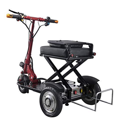 BGLMX Bicicletas Eléctricas 3 Ruedas, Doblada Mountain Scooter Triciclo para Adultos con...
