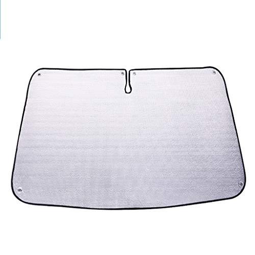 Pare-soleil pour fenêtre de voiture, pare-brise avant Isolation Parasol En utilisation dans un véhicule Papier d'aluminium Pare-soleil Protéger les enfants Argent Big Sucker (Color : Silver1)
