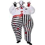 dressforfun 302357 - Aufblasbares Unisex Kostüm Horror-Clown, Anzug mit Blutflecken, inkl....