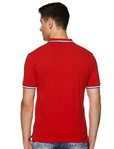 Wrangler Men's Solid Regular Fit Polo (W29608J07120_Jsw-Orange_Large)
