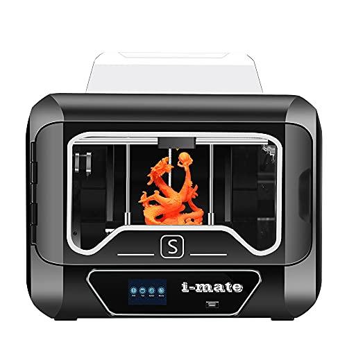 QIDI TECH Stampante 3D i Mates,Interamente in Metallo e Telaio Completamente Chiuso,con Estrusore di Precisione da 0,2 mm,Dimensioni di Stampa 10,24' X 7,87' X 7,87', nuovo modello 2021