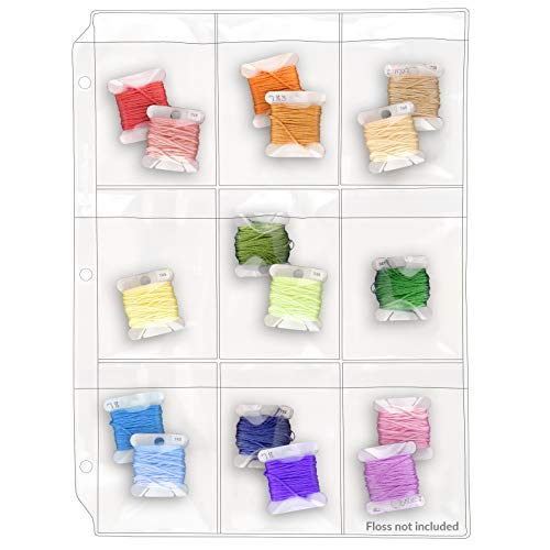 Review Of StoreSMART – Binder Page with Flaps for Embroidery Floss Thread Bobbins – 9 Pocket - 2...