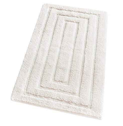 tappeto bagno emmevi emmevi Tappeto Bagno Puro Cotone Elegante Lussuoso Morbido Scendiletto Atiscivolo Varie Misure 100% Made in Italy MOD.Four 65X140 Beige (A)