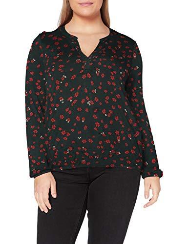 ESPRIT Damen 100EE1K326 T-Shirt, 300/DARK Green, M