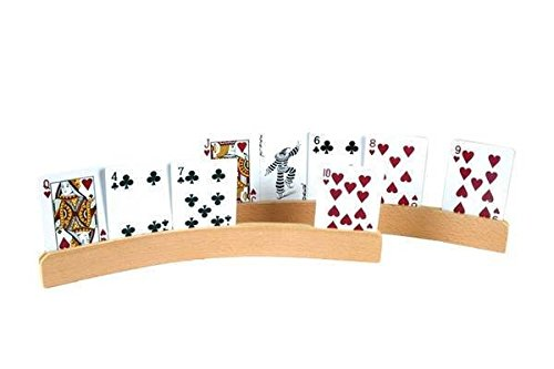 """14"""" Curved Shape Wooden Card Holders"""
