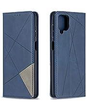 Hoesje voor Galaxy A12 Wallet Book Case, Magneet Flip Wallet met Kaarthouders slots Robuuste schokbestendige Bookcase voor Samsung Galaxy A12 - JEBF090128 blauw