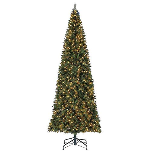 Home Heritage 16 Foot Albany Hard Needle Artificial Pine Pre-Lit LED White Light Christmas Tree