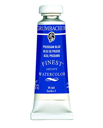 Grumbacher Finest Watercolor Paint, 14 ml/0.47 oz, Prussian Blue