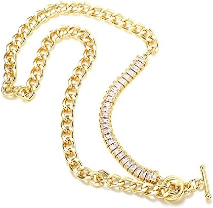 Luxury Max 40% OFF 18k Gold Plated Cubic Blingbling Square Zirconia Necklace Popular brand in the world
