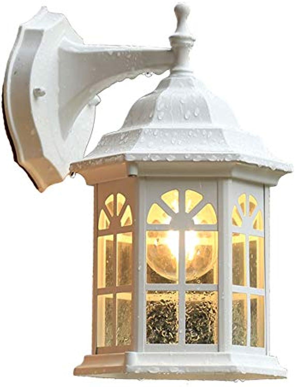 Firsthgus Europische pastorale Balkon Wandleuchte Terrasse wasserdicht Bar Korridor Gang Wandlampe, 8W