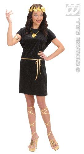 WIDMANN Schwarzes Römerinnen-Kostüm für Frauen