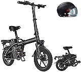 Bicicleta eléctrica de nieve, 14' plegable / Carbono Material Acero Ciudad de bicicleta eléctrica asistida eléctrica deporte de la bicicleta de montaña de la bicicleta con la batería de litio extraíbl