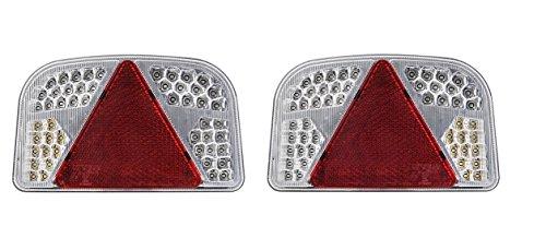 FEU 56 Led arrière DROIT + GAUCHE - 6 Fonctions - 12v 24v Auto caravane remorque