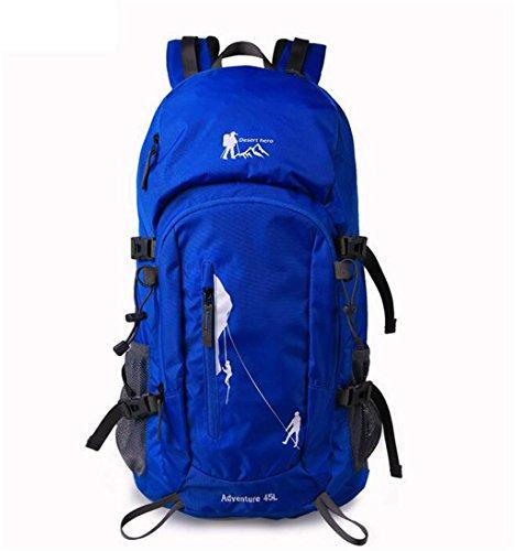 sac à dos randonnée Grande capacité sac à dos de loisirs Voyage d'alpinisme en plein air Sacs à dos de randonnée ( Couleur : Bleu , taille : 45L )