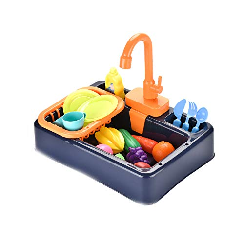 NIWWIN Kids Kitchen Sink Toys Set with Running Water Educational Gifts...