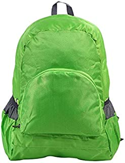 Foldable backpack waterproof backpack backpack outdoor backpack men and women students receive foldable backpack green